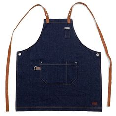 Not normal ! Rather be dead than cool.  Handicraft denim apron made from best quality raw denim with a large side pocket & a small chest pocket and
