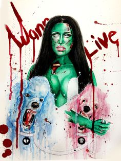 """tikomeow: """" Nicki THE ZOMBIE watercolor painting (GQ mag inspired) """" Monster Squad, Halloween Art, Gq, Watercolor Paintings, Disney Characters, Fictional Characters, Nicki Minaj, Disney Princess, Inspired"""