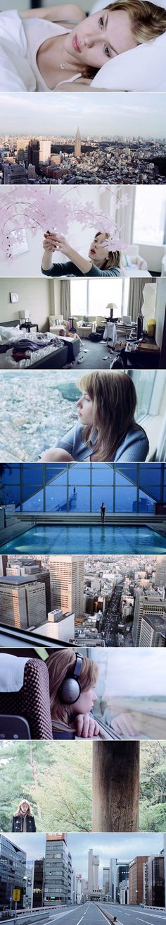 Lost in Translation dir. Sofia Coppola Low-contrast-white/blue coloring-lower saturation coldness for the bathtub scene-can stay consistent before the false death moment- (slight growth of coolness in color as Leonard's hope dwindles) Beau Film, Great Films, Good Movies, Michael Sheen, Storyboard, Cinema Colours, Color In Film, Star Wars Love, Movie Shots