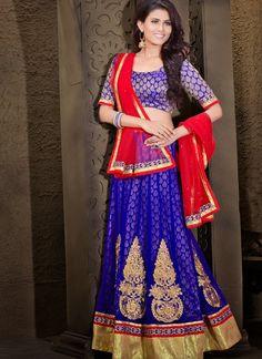 Alluring Blue Lehenga Choli #lehnga #wedding #bridal #shaadi #women #bride #LehengaCholi #ethnic #wear #desiwedding #asianclothes #bollywood #indian #trendz #indiantrendz