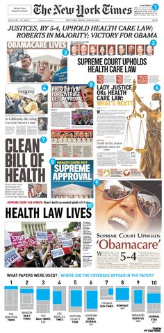 Headlines from across the country on the historic Supreme Court decision upholding Obamacare