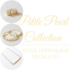 Petite Pearl Collection now available! Collection includes customizable pearl pieces consisting of cluster studs, hoop earrings, bar necklaces and bead woven necklaces. Check out the entire collection at sundrycreation.etsy.com