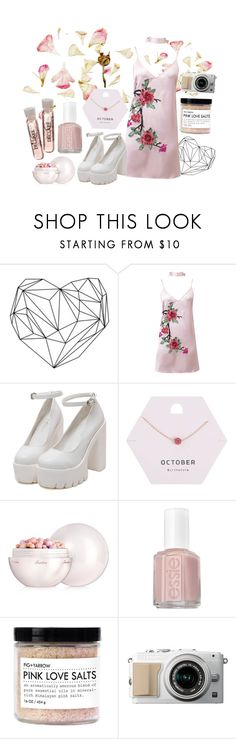 """sakura."" by quiescentsoul ❤ liked on Polyvore featuring WithChic, Miss Selfridge, Guerlain and Essie"