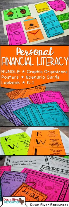 Personal Financial Literacy | Financial Literacy for Kids | Personal Finance for Kids | Personal Financial Literacy Activities | Personal Financial Literacy Printables