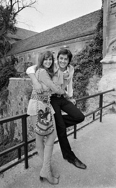 Maria Schneider and Alain Delon, who appear together in Madly (aka The Love Mates), 1970