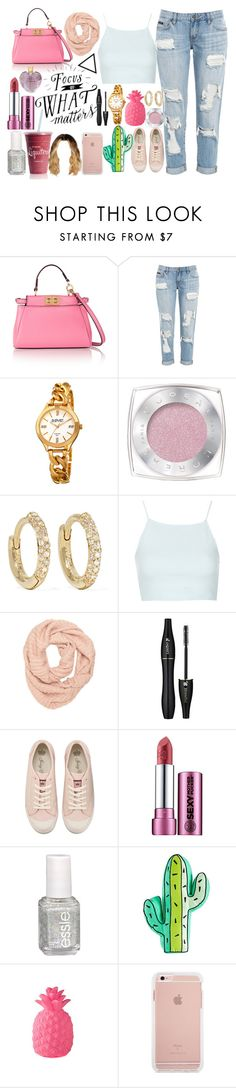 """""""Whatever matters"""" by yazy972 on Polyvore featuring Fendi, August Steiner, L'Oréal Paris, Jennifer Meyer Jewelry, Topshop, Lancôme, Juicy Couture, Essie and Vera Wang"""