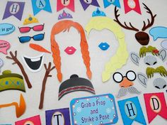 PDF - Frozen Inspired Photo Booth Props for Birthday Party - PRINTABL…