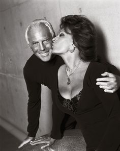 """#Atribute to Friends: Sophia Loren, who first met Giorgio Armani in Paris during his time working at Nino Cerutti, told WWD about regularly attending the designer's events: """"Always, just like real friends do."""" See what other friends of his also had to say on Armani.com/Atribute."""