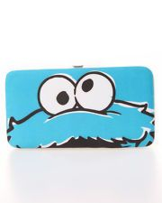 Cookie Monster Hard Case Wallet Hinge Clasp