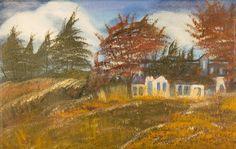 ©Farm House, painted by Iris Sun, oil on canvas  www.irisunart.com