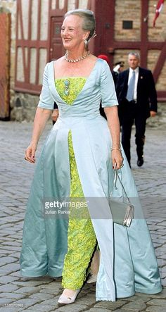 Queen Margrethe Ii Attends A Gala Dinner At Akershus Castle On The Evening Before The Wedding Of Crown Prince Haakon & Mette-Marit. .