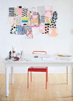 Ashley Goldberg's Studio // Inspiration wall