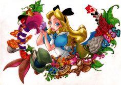Alice in wonderland alice in wonderland alice in wonderland Alice In Wonderland Clipart, Alice In Wonderland 1951, Sad Movies, Disney Crossovers, Disney Couples, Disney Fan Art, Chibi, Book Art, Artsy