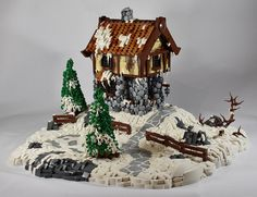 Winter Cottage — BrickNerd - Your place for all things LEGO and the LEGO fan community Lego Christmas Village, Lego Winter Village, Casa Lego, Lego Castle, Lego Worlds, Cool Lego Creations, Lego News, Lego Architecture, Lego Models