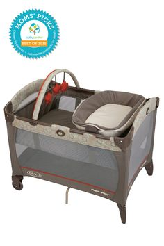 Perfect for travel or a night with Nana, the Graco Pack 'n Play with Reversible Napper and Changer is a BabyCenter Moms' Pick. Available in a variety of color options, this play yard is a convenient, portable place for Baby to nap and play. It includes a napper that snuggles and cradles newborn babies, a changing station for quick diaper changes and a toy bar to keep baby entertained.