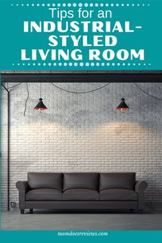 6 Smart Design Ideas For An Industrial-styled Living Room Industrial Style Lighting, Rustic Industrial Decor, Industrial Living, Red Armchair, Velvet Tufted Sofa, Concrete Coffee Table, Home And Living, Living Room, Grey Sectional