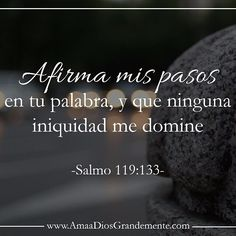 Salmos 119:133 Ordena mis pasos con tu palabra, Y ninguna iniquidad se enseñoree de mí.♔