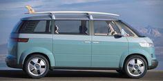 Volkswagen Bulli Concept - Photo Gallery of Auto Shows from Car and Driver - Car Images - Car and Driver Bus Vw, Vw Camper, Vw Volkswagen, Ferdinand Porsche, Van Hippie, Bugatti, Lamborghini, Dodge, Diesel