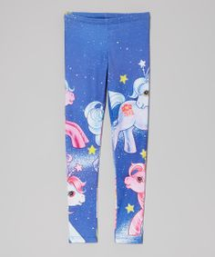 Blue My Little Ponies Space Leggings - Girls | Daily deals for moms, babies and kids