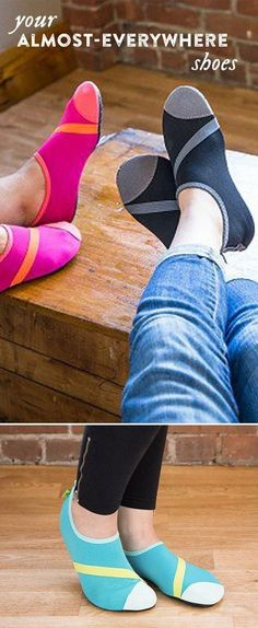 FitKicks are versatile shoes that go from work to working out, on the road and to the gym . . . even into the shower.: