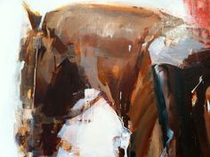 Painting by Alex Kanevsky Paintings I Love, Animal Paintings, Horse Paintings, Alex Kanevsky, Figure Painting, Painting & Drawing, Equine Art, Horse Art, Contemporary Paintings