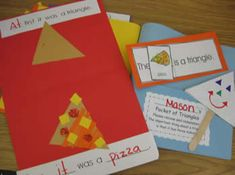 At first it was a triangle, then it was a pizza. From Kinder by Kim