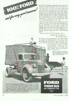1940 ford truck ad.