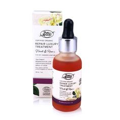 """Organic Jojoba oil mimics your skin's natural sebum, making REPAIR a luxurious treat for dry skin.  Code GREENLIFE saves 25%!! Scent: Natural floral (rose geranium, neroli, ylang ylang essential oils)  Skin Types:  Dry, dehydrated, mature  SAMPLE ORDERING: If you are ordering ONLY samples of Pure Anada products, feel free to use the coupon code """"sample"""" to decrease shipping to $2.00. Please note that this is to be used for orders containing ONLY samples. Thank you!"""