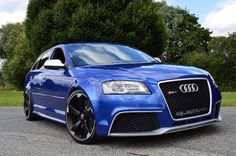 Audi A3 RS3 QUATTRO ** SCORPION EXHAUST ** H&R SUSPENSION **, 2.5 Petrol, Automatic, 43,000 miles, sepang blue, 5 doors, 3 owners at German Car Specialist Ltd for £24,990.