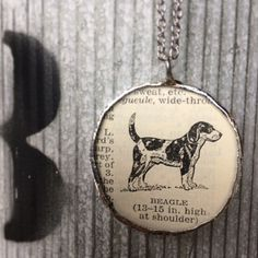 Tons of new pendant necklaces at the shop. Locally made. Beagle.