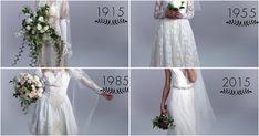 Evolución de los vestidos de novia, ¡100 años en 3 minutos!