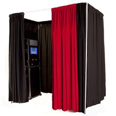 Great pipe and drape photobooth idea for any event!