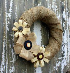 DIY Burlap Wreath and Flower Tutorial (SUPER easy and so cute)