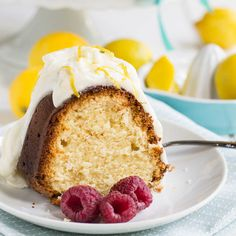 Lemon Pound Cake with Cream Cheese Frosting