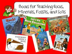 books for rocks, minerals and fossils  Site has science books for all topics