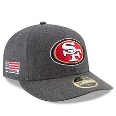 timeless design ed396 e033a New Era San Francisco 49ers Heather Gray Crafted in the USA Low Profile  59FIFTY Fitted Hat