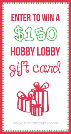 Enter to win $150 Hobby Lobby Shopping spree! I Heart Nap Time | I Heart Nap Time - Easy recipes, DIY crafts, Homemaking @Jalyn {iheartnaptime.net}