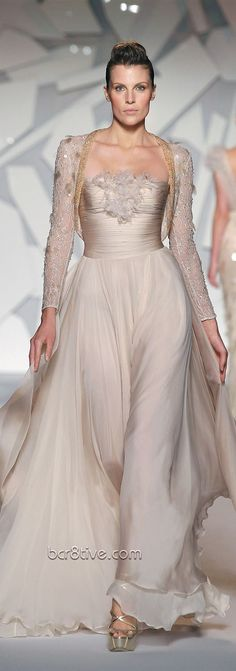 We love the pretty plethora of pastel hued gowns from Abed Mahfouz Fall/Winter couture collection. Take your pick from gossamer gowns Abed Mahfouz, Couture Mode, Couture Fashion, Beautiful Gowns, Beautiful Outfits, Glamour, Bridal Gowns, Wedding Gowns, Modest Wedding