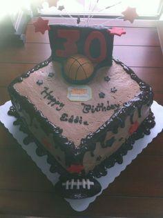 30th birthday cake for high school coach