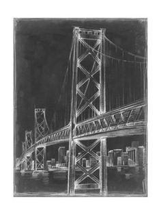 Brooklyn bridge blueprint vintage new york brooklyn bridge suspension bridge blueprint ii art print by ethan harper at art malvernweather Images