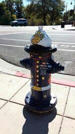Marine --- Painted fire hydrant art