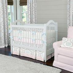 Pink and Gray Rosa Crib Bedding | Carousel Designs