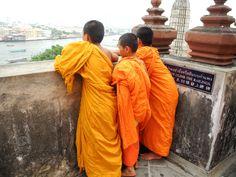 Bangkok, monchas, budhas