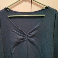 Long sleeve teetop v neck Blue v neck long sleeve Tops Tees - Long Sleeve