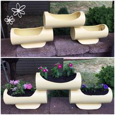 Plant Projects, Outdoor Projects, Garden Projects, Pvc Pipe Garden Ideas, Living Room Plants Decor, Gutter Garden, Pvc Pipe Crafts, Pipe Decor, Bamboo Crafts