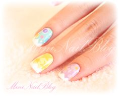 Delicate Easter nail art. check out www.MyNailPolishObsession.com for more nail art ideas.