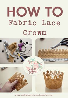 how to make a lace crown photography prop