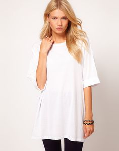 So versatile, over sized white tshirt
