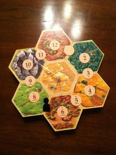 Settlers of Catan Clock. Easy to do yourself