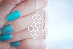 NEW  Honeycomb Necklace  Sterling Silver by blackpersimmons, $29.00